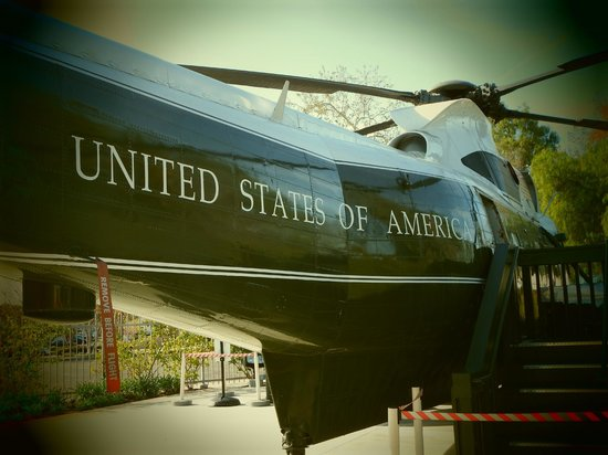 Richard Nixon Presidential Library and Museum: Marine 1 ... that flew him away from DC