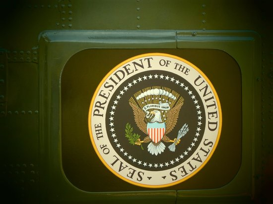 Richard Nixon Presidential Library and Museum: Presidential Seal on Helicopter