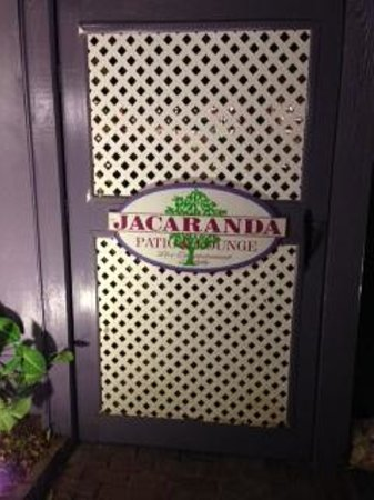 The Jacaranda Restaurant: The Jacaranda Door to Patio