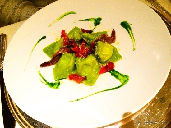 Rosapetra Spa Resort: Ravioli ai broccoli