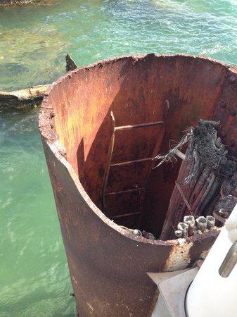 Pearl Harbor: On the USS Arizona.