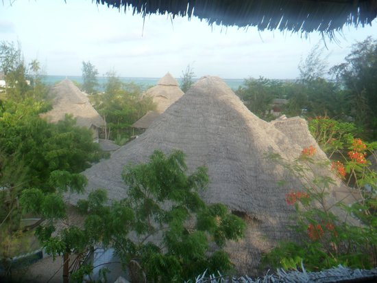 Pumzika Beach Resort : Blick von der Veranda