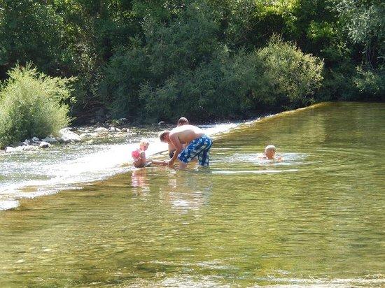 Camping la Plage : baignade au camping