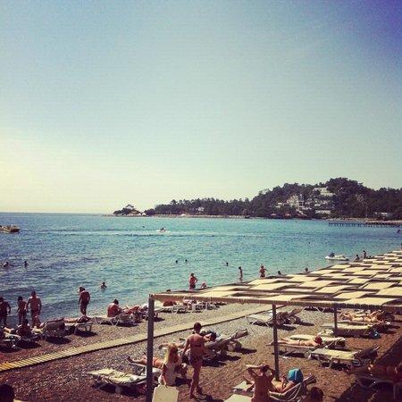 La Mer Art Hotel : пляж и море