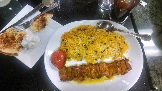 Amoo's Restaurant: Lamb kabob with special rice with barberries