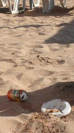 InterContinental Aqaba Resort: La spiaggia alle 10 del mattino