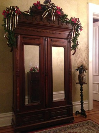 Dupont Mansion B&B : An armoire in the first floor foyer.