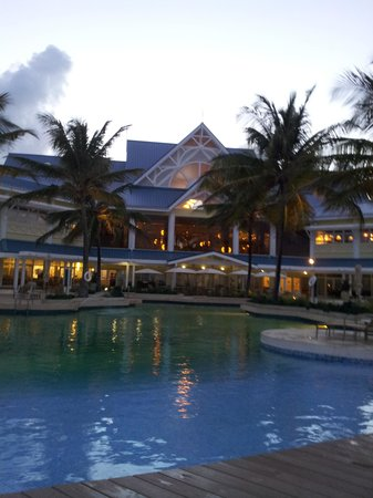 Lowlands, Tobago: view of lobby dining room and pool