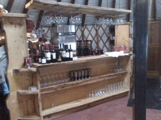 Killington Resort: Yurt Interior - Service Bar