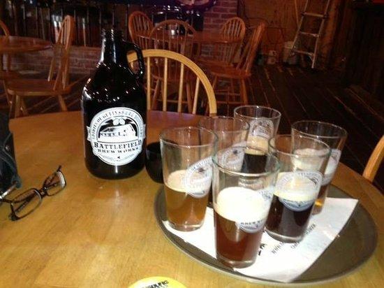 Battlefield Brew Works & Spirits of Gettysburg : A Flight of Beers