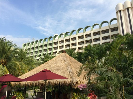 PARKROYAL Penang Resort, Malaysia: View of hotel from beach.