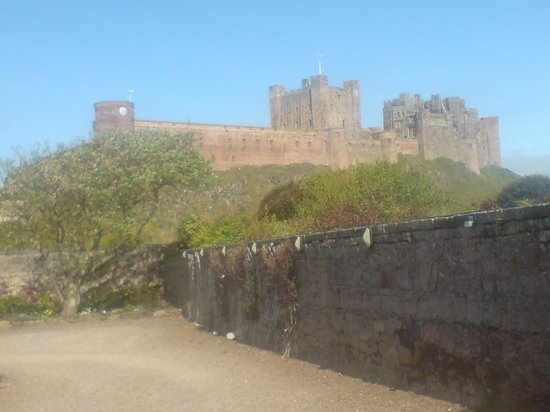 St Aiden Beach : Bamburgh Castle from The Wynding
