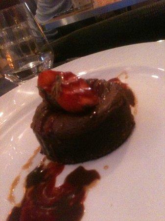 La Courette du Faubourg : MOelleux au chocolat/fraise