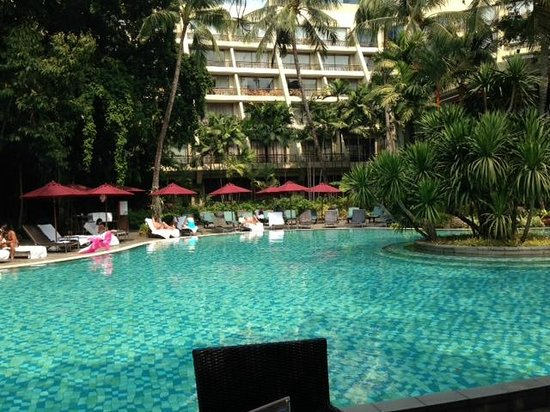 Swissotel Nai Lert Park : View from my lunch table pool side.