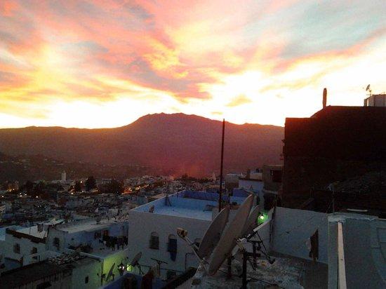 Casa La Palma: ATARDECER DESDE LA TERRAZA