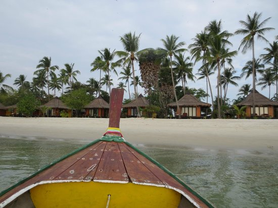 Koh Mook Sivalai Beach Resort : Arrival on Long boat to Sivalai