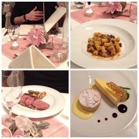 Hotel Corona La Magia dei Cristalli: cena
