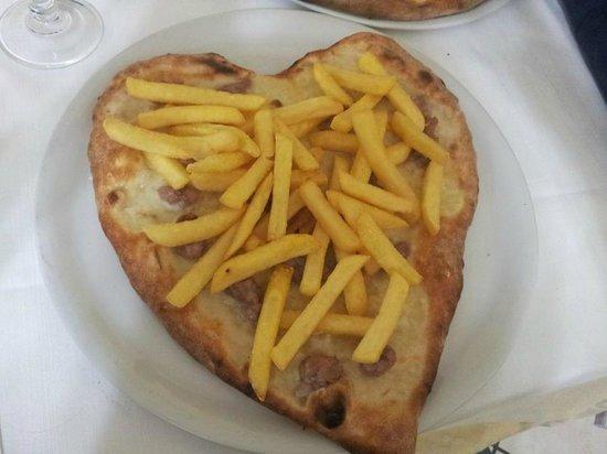 La Pergola: Pizza a forma di cuore