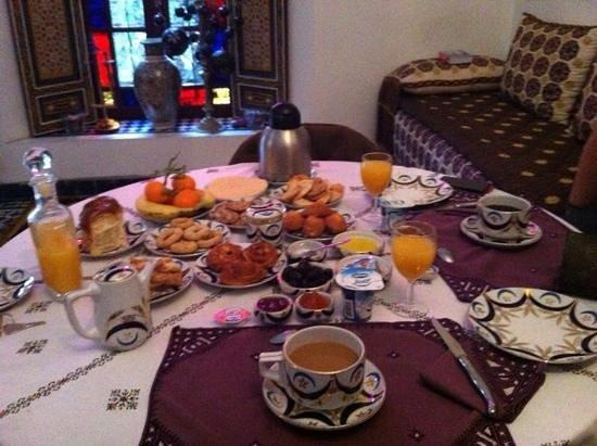 Riad Souafine : le petit dejeuner