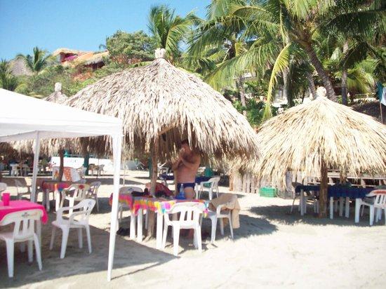 La Palapa: Playa Madera palapa