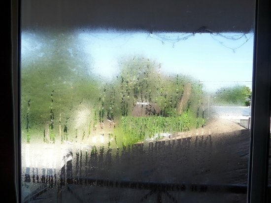 Hotel Residencia La Mariposa: The view, complete with condensation