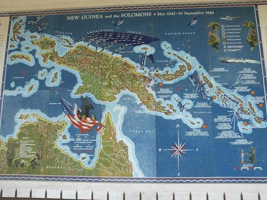 National Memorial Cemetery of the Pacific: Mosaic map Display..!