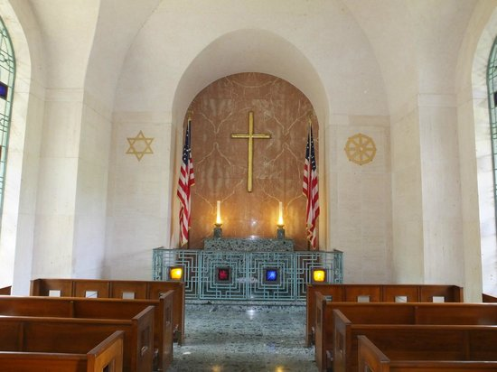 National Memorial Cemetery of the Pacific: The Chapel..!