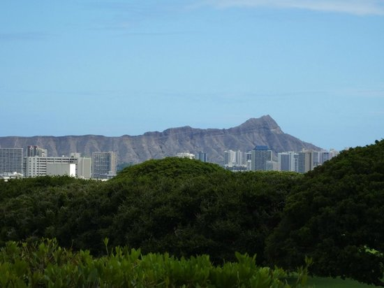 National Memorial Cemetery of the Pacific: View of Diamond Head..!