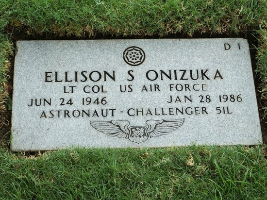 National Memorial Cemetery of the Pacific: Challenger Astronaut...!
