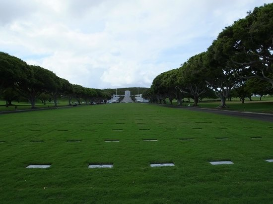 National Memorial Cemetery of the Pacific: View of Colombia..!