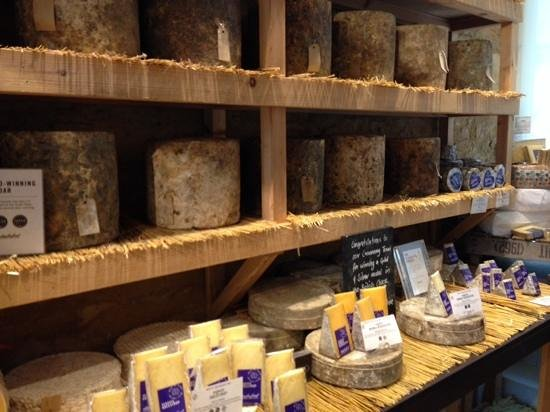 Daylesford Organic Farm Cafe: cheese room, great smell