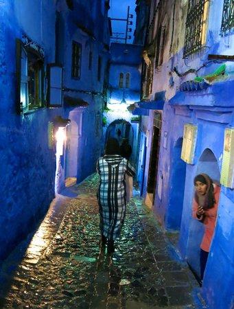 Dar Echchaouen : Una calle de Chefchaouen