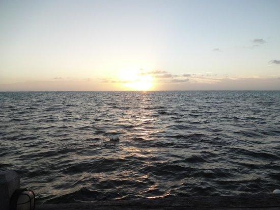 La Perla Del Caribe : early morning sunrise from the dock at La Perla