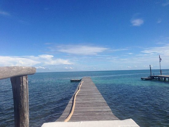 St. George's Caye Resort : View from the dock