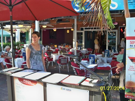 Cafe Luna: View of the open-air restaurant from the sidewalk