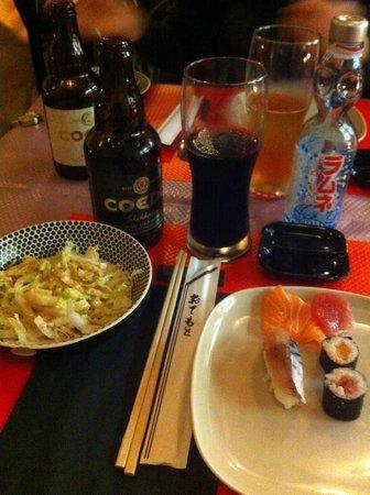 Iki Sushi : Bière brune et limonade japonaise