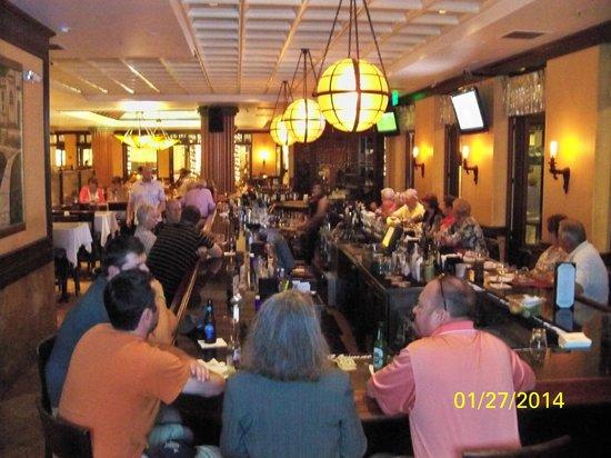 Vergina on Fifth Avenue : Patrons enjoy tapas at Vergina's bar before the NJO concert