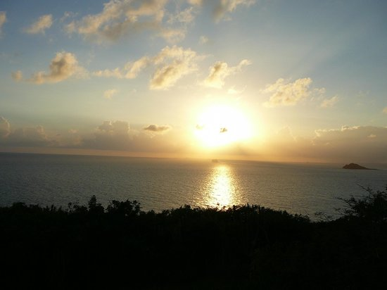 Virgin Islands Campground: Sunset from fort
