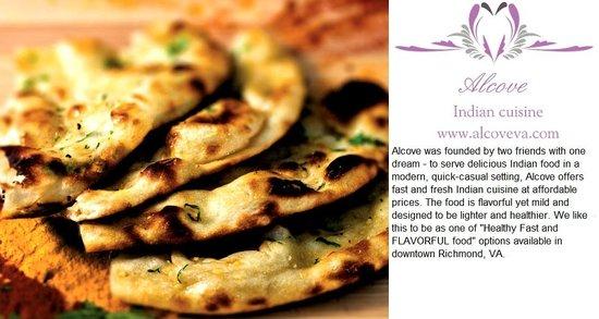 Alcove Restaurant: Naan and Desc