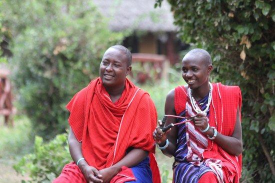 Ndololo Camp: Masai men
