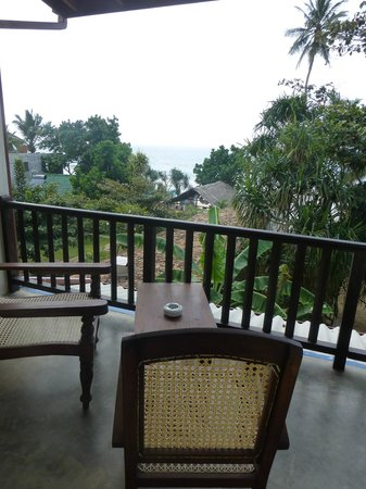 Wadiya Guesthouse : balcony looking to beach