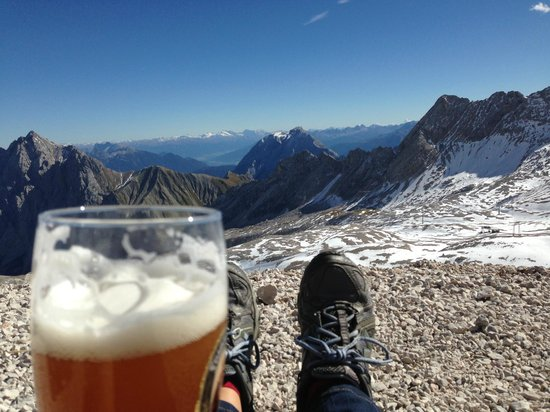 Zugspitze: Beer at the top of the world