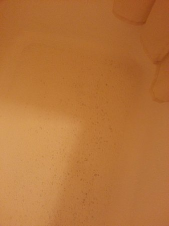 Homestead Inn: Dark spots in the tub