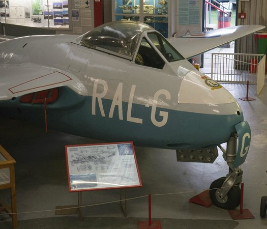 Midland Air Museum : The only Mk.1de Havilland Vampire in the UK.