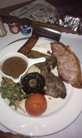 Hilton Bracknell: £21 for a slice of bacon & sausage from brekky and a chop of fat