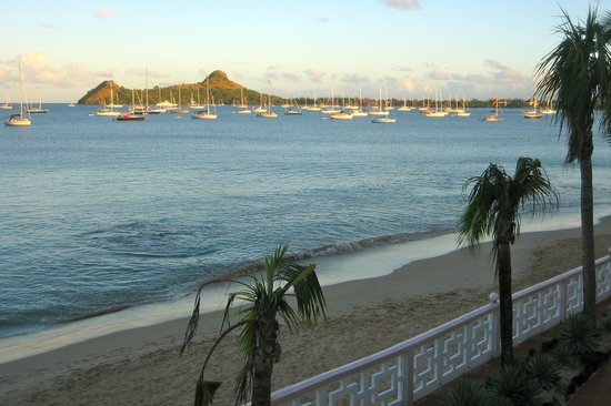 St. Lucian by Rex Resorts: la vue sur notre balcon chambre 238