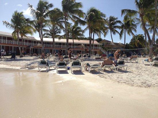 Pineapple Beach Club Antigua : Beachfront room block