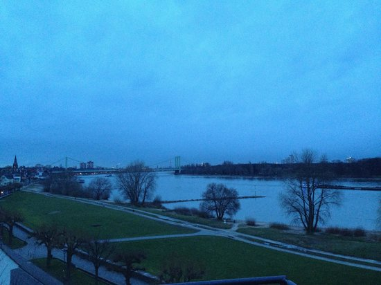 Rheinblick : View from penthouse suite