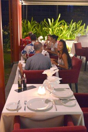 Vaitohi Restaurant : Notre terrasse couverte