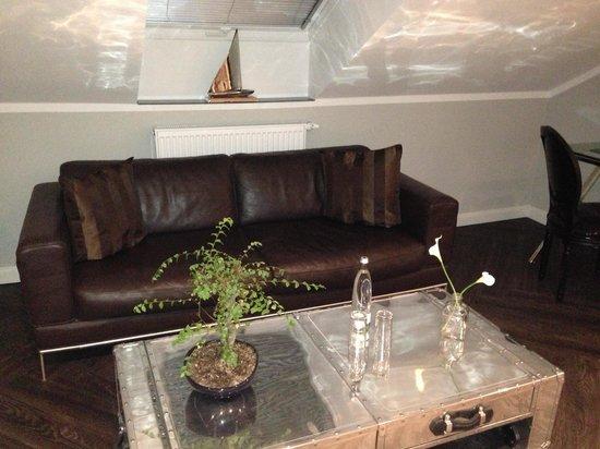 Rheinblick : Sofas in the penthouse
